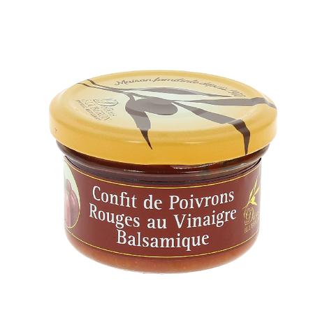 Confit de poivrons rouges au vinaigre balsamique