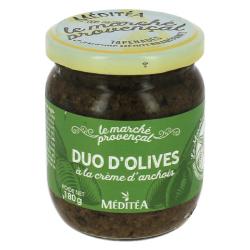Duo d'olives à la crème d'anchois
